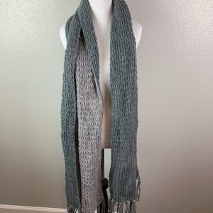 Accessories - Soft knitted grey and purple scarf